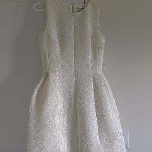 Calvin Klein white lace dress